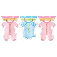 Creative Converting Baby Shower Baby Clothes Flag Banner from Creative Converting