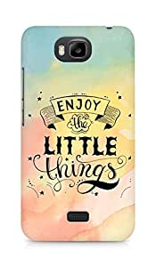 AMEZ enjoy the little things 2 Back Cover For Huawei Honor Bee