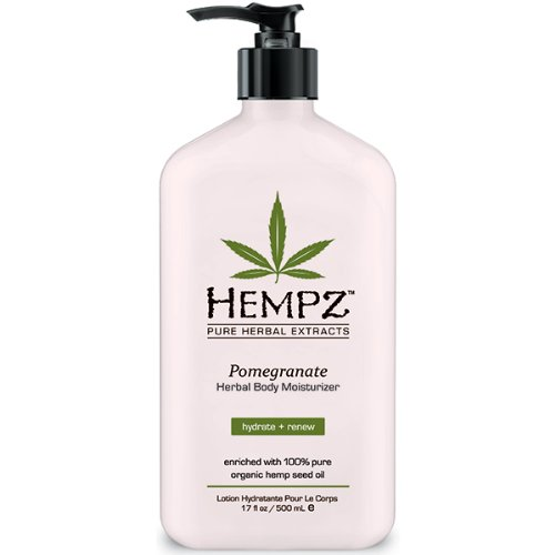 Hempz Pomegranate Herbal Moisturizer, 17 fl oz (500 ml) (Package may vary)