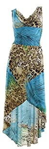 3158 NY Deal Womens Animal Print High Low Dress -Various Colors