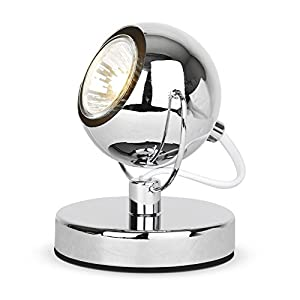 Modern Silver Chrome Eyeball Spot Desk / Table Lamp by MiniSun