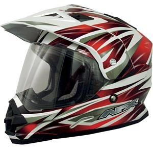 Afx Fx-39Ds Dual Sport Motorcycle Helmet Multi Red Ds (Large 0110-2481)