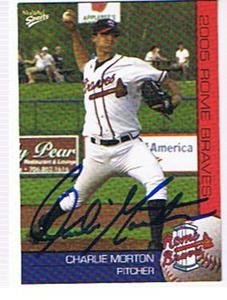 CHARLIE MORTON 2005 ROME BRAVES AUTOGRAPHED CARD !! by Bud