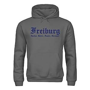 dress-puntos Sonderangebot Restposten Kapuzensweatshirt Freiburg Harder, Better, Faster, Stronger sldrpt-h00062