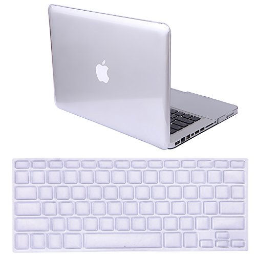 HDE MacBook Pro 13 (Non Retina) Case and Keyboard Cover Snap On Protective Hard Shell Clear Fits Old Macbook Pro 13 Inch Model A1278 with CD Drive (Crystal See Thru) (Hde Glossy Crystal See Thru compare prices)