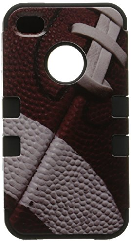 MYBAT IPHONE4AVHPCTUFFIM011NP Premium TUFF Case for iPhone 4 - 1 Pack - Retail Packaging - Football/Black (Football Iphone 4 Case compare prices)