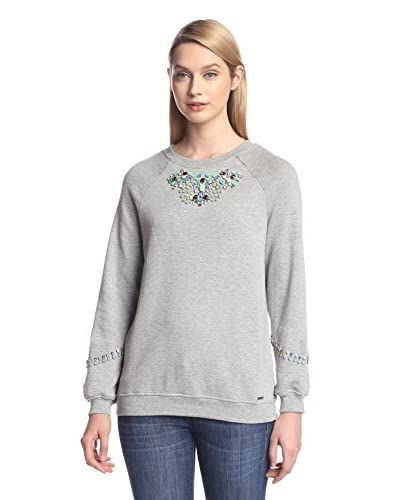 Hemant & Nandita Women's Sweatshirt with Embellished Sleeves