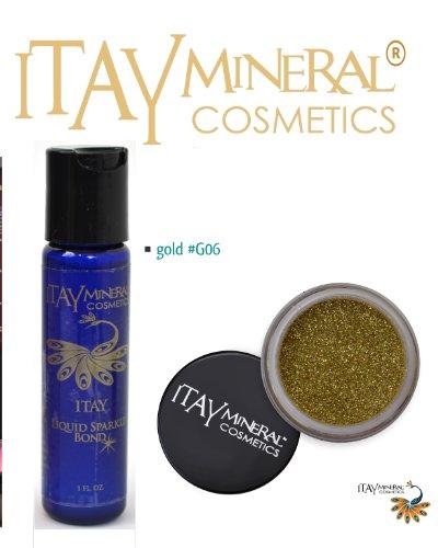 ITAY Mineral Cosmetics Liquid Sparkle Bond + Glitter Powder G6 Gold