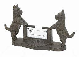 Cast Iron Scottie Dog Business Card Holder Desk Home
