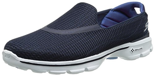 Skechers Performance Women's Go Walk 3 Slip-On Walking Shoe,Navy/White,8.5 M US