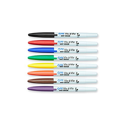 expo-vis-a-vis-wet-erase-overhead-transparency-markers-fine-point-assorted-colors-8-count