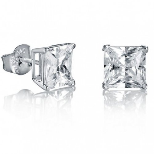 Pulsante orecchini d'argento Viceroy zirconi 21004E000-30 donne