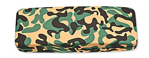 oblong rectangular hard eyeglass case medium to large frames men women in black or camo