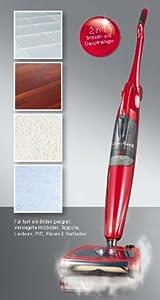 Clean Maxx 2in1 Sweep & Steam Dampfbesen Dampfreiniger rot Bodenreiniger BWare   Kundenbewertung und weitere Informationen