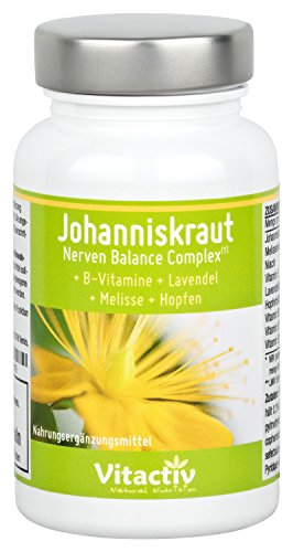 nerven balance complex mit johanniskraut kr utermix 4 nat rliche kr uter gegen depression 60. Black Bedroom Furniture Sets. Home Design Ideas