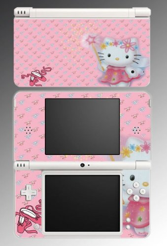 Hello Kitty Pink Fairy Princess Cute Cat Vinyl Decal Skin Protector Cover for Nintendo DSi XL