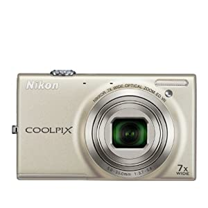 Nikon COOLPIX S6100 16 MP Digital Camera with 7x NIKKOR Wide-Angle Optical Zoom Lens and 3-Inch Touch-Panel LCD (Silver)