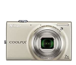 Nikon COOLPIX S6100 16 MP Digital Camera with 7x NIKKOR Wide-Angle Optical Zoom Lens and 3-Inch Touch-Panel LCD (Silver) (OLD MODEL)