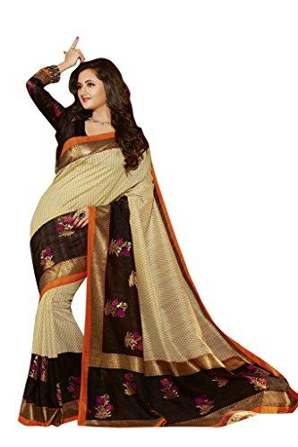 Roop Kashish Women's Silk Saree (12546 _Beige)