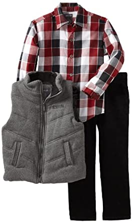 Kenneth Cole Boys 2-7 Puffy Vest Clothing Set, Gray, 7