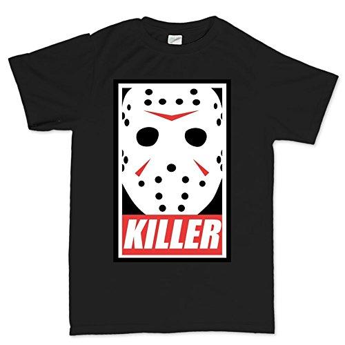 Mens Jason Voorhees Killer Halloween T Shirt XL Black (Friday The 13th Jason Teen Costume)