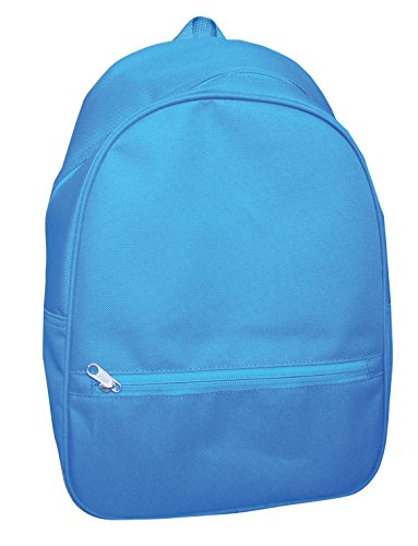 School Smart Youth Backpack with Inside Pocket and Small Front Pocket with Hidden Zipper - Blue - 1