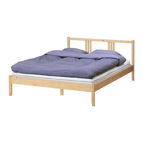 """IKEA Bettgestell """"Fjellse"""" Bett in 140x200 cm aus massiver, unbehandelter Kiefer"""