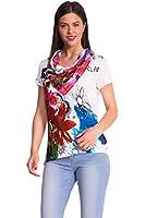 Desigual - T-shirt - Col châle - Manches courtes Femme