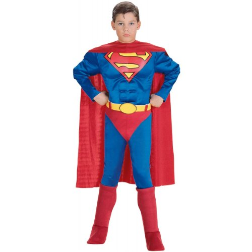 Super DC Heroes Deluxe Muscle Chest Superman Costume, Toddler