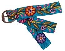 "Alma Soul ""Ceci"" Hand Woven Belt - Fair Trade (Small, Turquoise)"