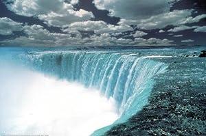 Niagara Falls (Color) Art Poster Print - 24x36 custom fit with RichAndFramous Black 36 inch Poster Hangers