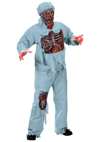 Funworld Mens Scary Bloody Zombie Doctor Undead Walker Halloween Party Costume