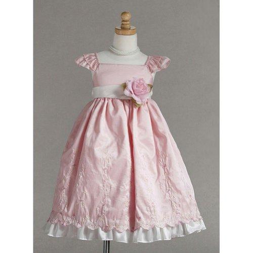 Crayon Kids Pink Rose Easter Flower Girl Dress 4T front-648667