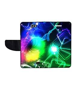 KolorEdge Printed Flip Cover For Gionee Pionee P2 -Multicolor (43KeMLogo11194GioneeP2)