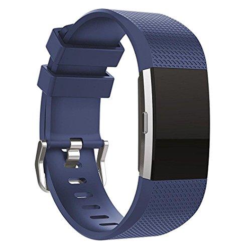 Fitbit Charge 2 cinturino,Sumin® Morbido silicone Accessori Sport sostituzione Bracciale classico cinturino sportivo per Fitbit Charge 2