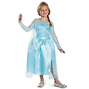 Disguise Disney's Frozen Elsa Snow Queen Gown Classic Girls Costume, X-Small/3T-4T
