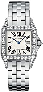 Cartier Santos Demoiselle 18kt White Gold Diamond Ladies Watch WF9003Y8