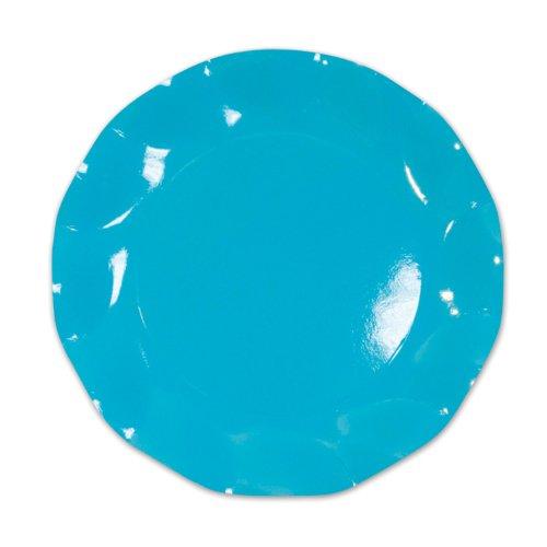 Turquoise Large Plates (10/Pkg)