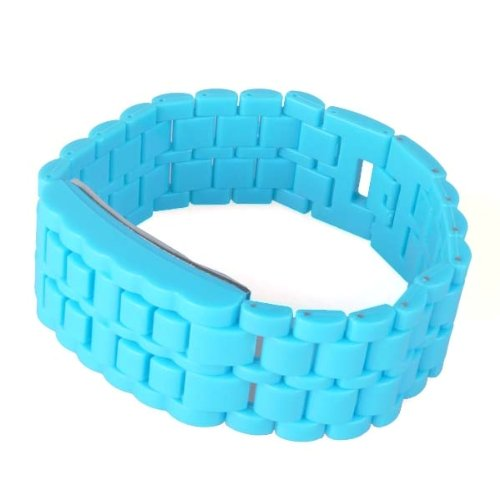 Neewer Blue Red LED Men/Women Digital Lava Fashion Strap Band Wrist Watch