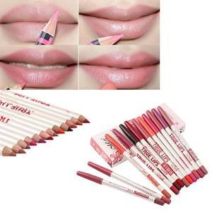 Aoohe 12PCS Pro Ultra Deluxe Beauty Professional Waterproof Concealer Pencil To Mouth Lip liner Shaping Make Up Foundations Tools