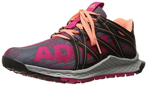 Adidas Performance Women's Vigor Bounce W Running Shoe, Bold Pink/Black/Sun Glow S16, 8 M US