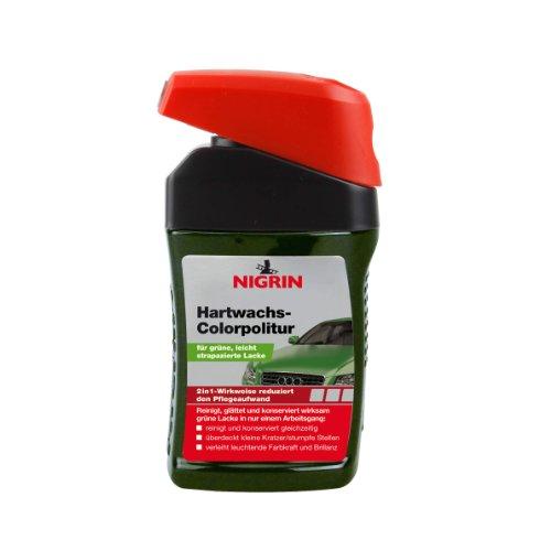 Nigrin 72948 Hartwachs-Colorpolitur Hard Wax Polish Green 300 ml