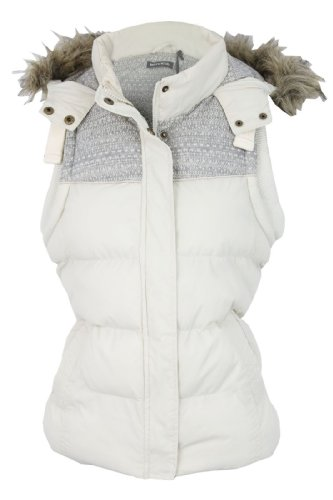 Womens/ Ladies Gilet Brave Soul 'Dusk' Body Warmer Jacket/ Coat Hoddie/ Hooded (Dusk (Ivory)) 10