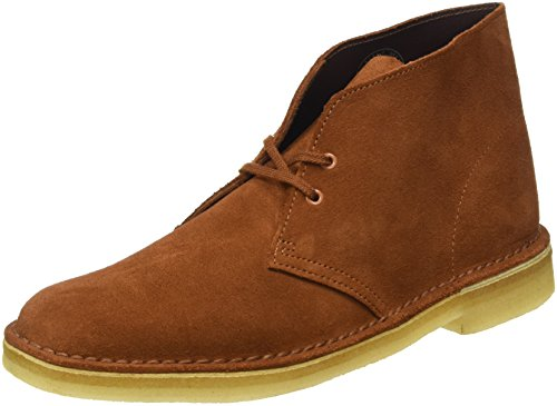 Clarks Originals Boot, Stivali Desert Boots Uomo, Marrone (Dark Tan Suede), 42.5 EU