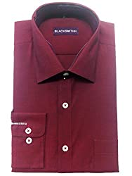 Blacksmith Men's Formal Shirt_1968096031BLSHIRTCHMBRY2_Velvet Maroon_42