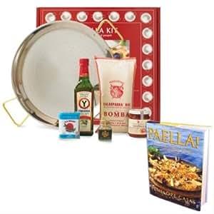 La Tienda Deluxe Paella Kit with Paella Cookbook (Includes 15 inch