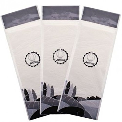 Jet Bag Reusable Padded Absorbent Bottle Bags Pack of 3, Bio-Degradable Travel Accessories