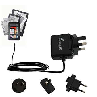 International Wall Home AC Charger for the Amazon Kindle Fire / HD / HDX / DX / Touch / Keyboard (WiFi and 3G) - uses Gomadic TipExchange Technology
