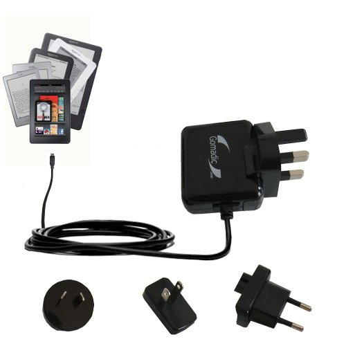 International Wall Home AC Charger for the Amazon Kindle / DX / Touch / Keyboard (WiFi and 3G) - uses Gomadic TipExchange Technology