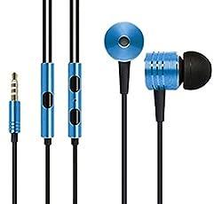 Premium High Quality OEM Mi Piston Design Earphones for Blu Win HD LTE - Dark Blue